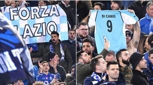 I tifosi del Porto all'Olimpico: «Forza Lazio» e maglia di Di Canio