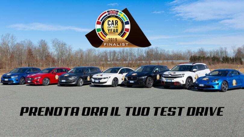 Auto dell'Anno, prenota i test drive esclusivi