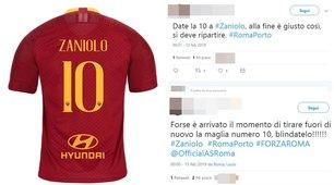 Roma, è Zaniolo mania: «Dategli la 10 di Totti»