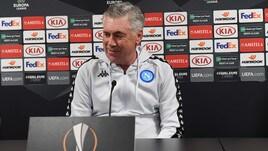 Europa League, Ancelotti: «Il Napoli ha un futuro, abbiamo molto da giocarci»