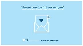 Il poster di Hamsik con la lettera d'amore al popolo partenopeo