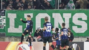 Europa League: non c'è Icardi ma all'Inter basta Lautaro, Rapid ko