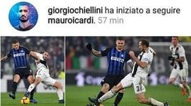 Icardi-Juventus, l'indizio social arriva da Chiellini