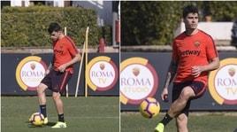Roma, Perotti di classe: il 'no look' in allenamento
