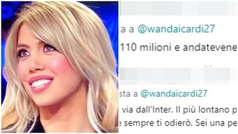 Wanda Nara pubblica un tweet, i tifosi dell'Inter la insultano