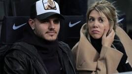 Icardi con Wanda Nara a San Siro per Inter-Sampdoria