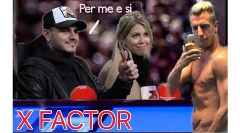 Icardi e Wanda Nara in tribuna: sui social spopolano i meme