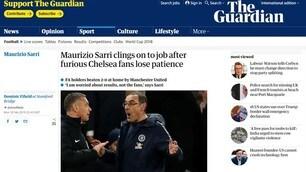 «Sarrender», la stampa inglese contro il tecnico del Chelsea