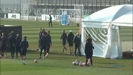 Juventus al lavoro prima della Champions
