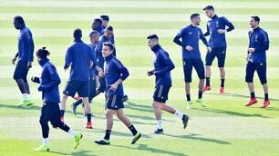 Atletico-Juventus: Ronaldo carica i compagni in allenamento