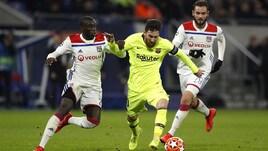 Champions: Barça a secco, ma in quota è già ai quarti
