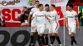 La Lazio manca l'impresa ed esce: vince il Siviglia 2-0