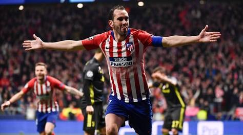 Champions League: Atletico Madrid-Juventus 2-0, decidono Gimenez e Godin