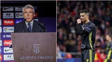 Il presidente dell'Atletico: «Cristiano Ronaldo non ha vinto 5 Champions»