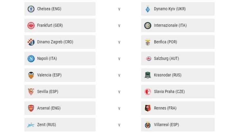 Calendario Europa League Ottavi.Europa League Negli Ottavi Sara Eintracht Inter E Napoli