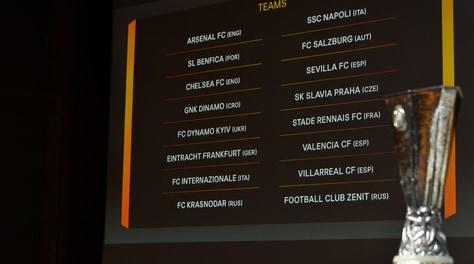 Europa League, negli ottavi sarà Eintracht-Inter e Napoli-Salisburgo