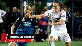 Serie A, stasera già in campo Milan-Empoli