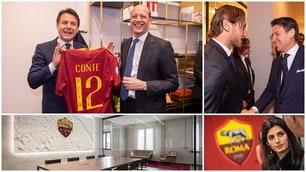 Roma, il premier Conte e la sindaca Raggi all'inaugurazione della nuova sede