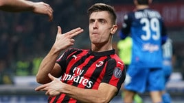 Milan-Empoli 3-0: Piatek non perdona