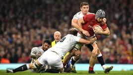 Rugby Sei Nazioni, botte e spettacolo tra Galles e Inghilterra