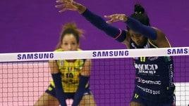 Volley: A1 Femminile, Conegliano soffre ma si isola al comando