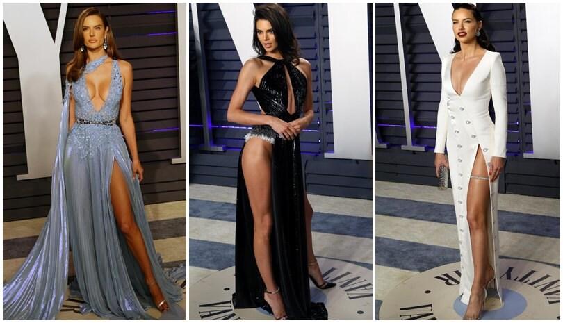 Jenner, Lima, Ambrosio e le altre: spacchi da Oscar...