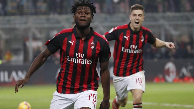 Serie A, il Milan vola: il pass per la Champions vale 1,60