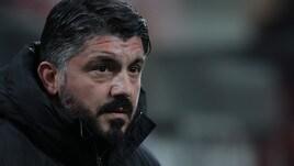 Milan, Gattuso avvisa: «Contento per l'entusiasmo ma con la Lazio è dura»