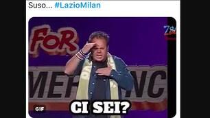 """Lazio-Milan sui social: """"Qualcuno per caso ha visto Suso?"""""""