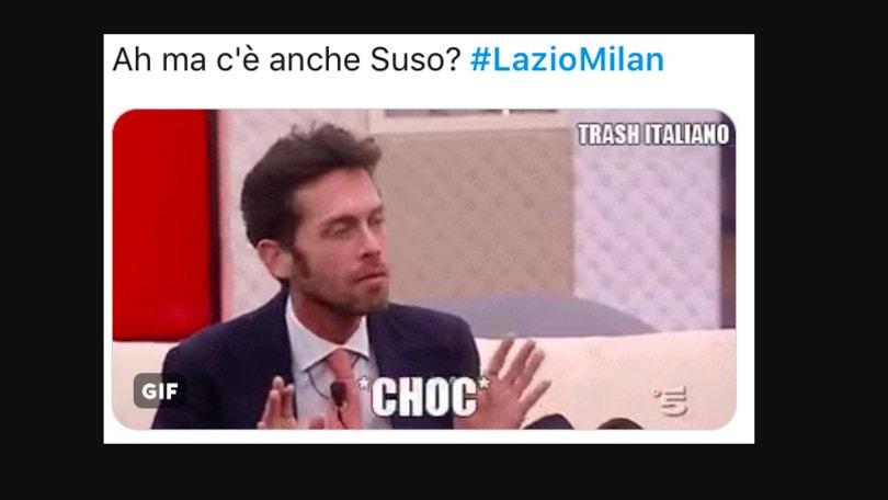 Lazio-Milan, Suso bersagliato sui social: «Un fantasma, chi l'ha visto?»