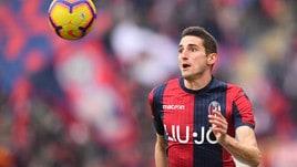 Serie A Bologna, lesione di primo grado per Mattiello