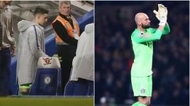 Chelsea, lo sconforto di Kepa in panchina. E Caballero prende gli applausi
