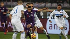 Coppa Italia Fiorentina-Atalanta 3-3, il tabellino