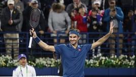 Tennis, Dubai: Federer, ancora due vittorie per il titolo numero 100