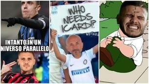 Icardi dice la sua sul suo momento all'Inter: sul web spuntano i meme