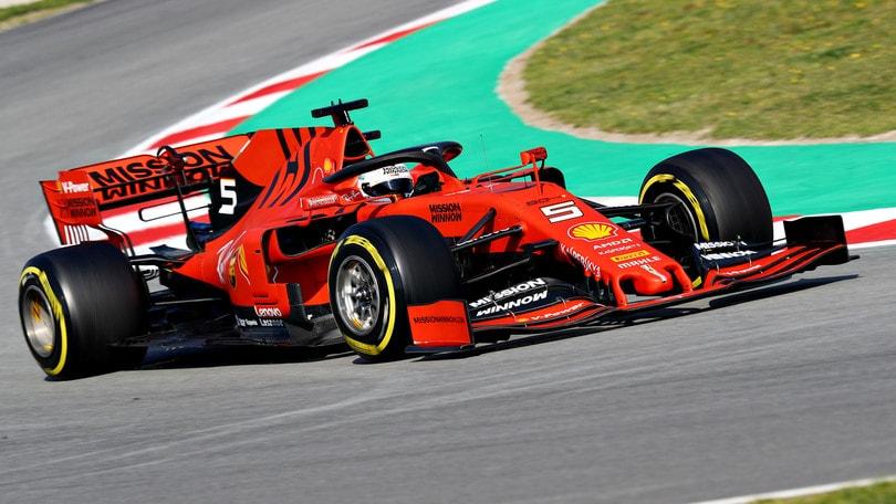 F1 test Barcellona: super tempo per Vettel, Bottas secondo