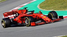 F1 test Barcellona: super tempo per Vettel, Bottas secondo