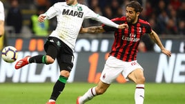Serie A Milan-Sassuolo 1-0, il tabellino