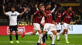 Serie A, Milan-Sassuolo 1-0: decisivo l'autogol di Lirola