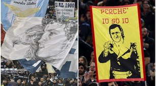 Derby Lazio-Roma, spettacolo sugli spalti all'Olimpico