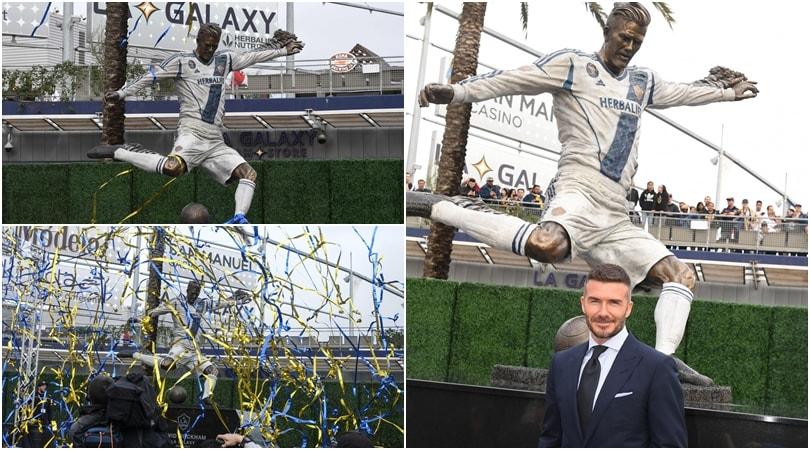 Beckhamha la sua statua: i LA lo omaggiano così