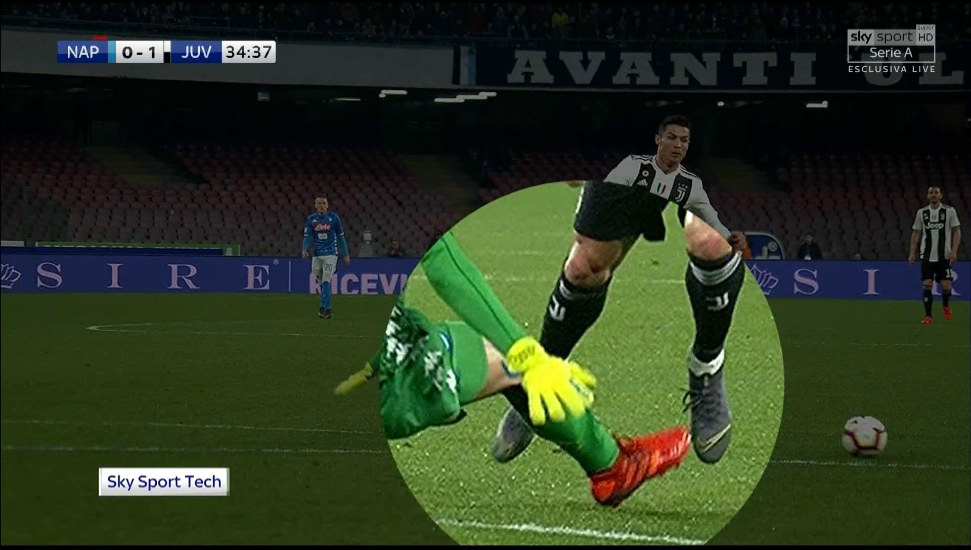 Meret esce su Cristiano Ronaldo: rosso diretto