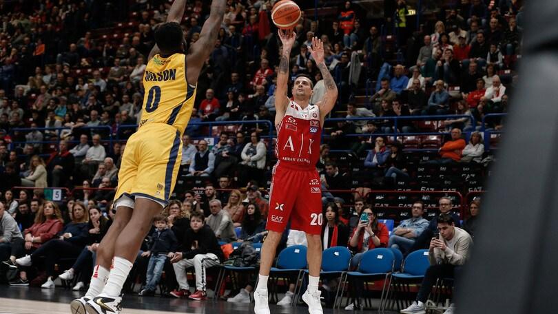 Basket Serie A, Milano travolge Torino. Cremona stacca Avellino