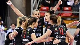 Volley: A2 Femminile, Perugia vince anche a Mondovì, tengono Soverato e Trento