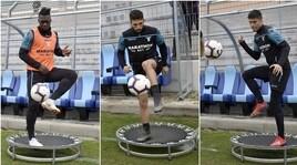 Lazio, gli eroi del derby affinano la tecnica. E Durmisi...