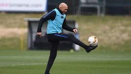 Inter, rifinitura per l'Eintracht: Spalletti show con il pallone