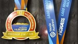 Medaglia e tabella d'allenamento di 6 settimane per Lago Maggiore Half Marathon