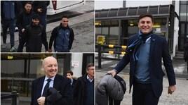 L'Inter verso Francoforte: i sorrisi prima dell'Eintracht