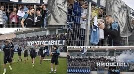 Lazio, Formello in festa: i tifosi si scatenano