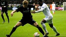 Europa League Eintracht-Inter 0-0, il tabellino